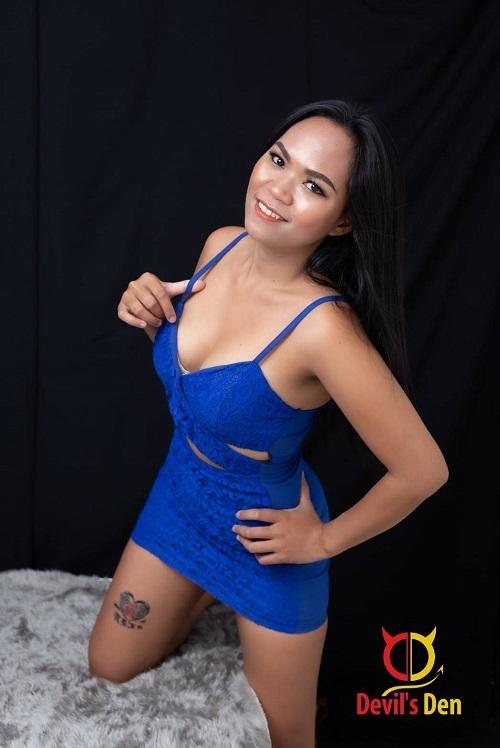 Blue in Blue dress