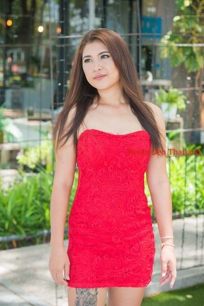 Paula red dress