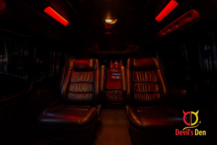 VIP Bus back to front