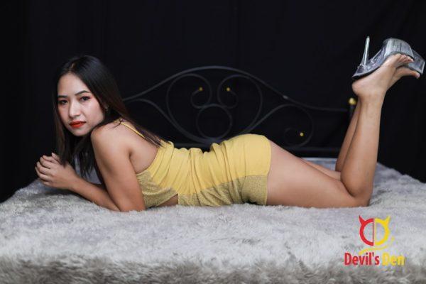 Mandy Laying down sexy